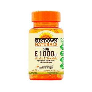 Vitamina E 1000 UI Sundown Antioxidante 50 Cápsulas