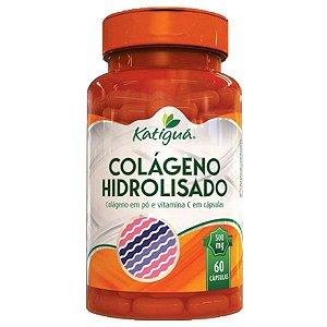 Colágeno Hidrolisado com Vitamina C - 60 Cápsulas - Katigua
