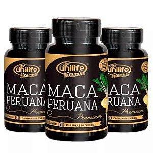 Maca Peruana Premium - 3x 60 Cápsulas - Unilife