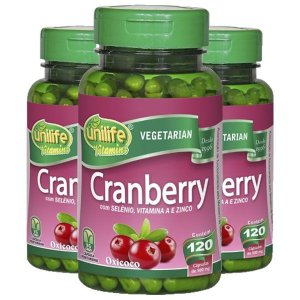 Cranberry - 3 unidades de 120 cápsulas - Unilife