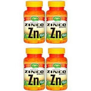 Zinco Quelato - 4 unidades de 60 Cápsulas - Unilife