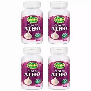Óleo de Alho - 4 unidades de 100 Cápsulas - Unilife