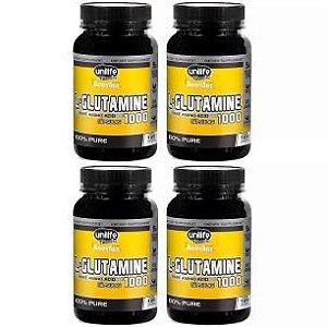 L-Glutamine 1000mg - 4 unidades de 120 Cápsulas - Unilife