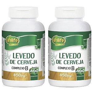 Levedo De Cerveja - 2 unidades de 400 Comprimidos - Unilife