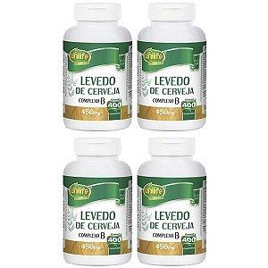 Levedo De Cerveja - 4 unidades de 400 Comprimidos - Unilife