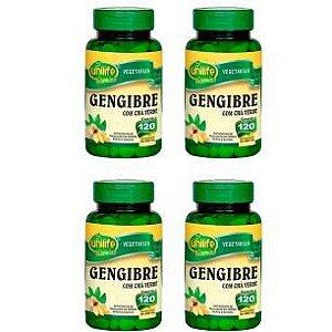 Gengibre com Chá Verde - 4x 120 Comprimidos - Unilife