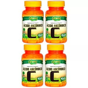 Vitamina C (Ácido Ascórbico) - 4x 60 Cápsulas - Unilife