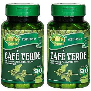 Café Verde - 2 unidades de 90 Comprimidos - Unilife