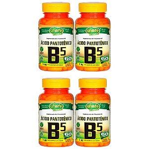 VItamina B5 (Ácido Pantotênico) - 4x 60 Cápsulas - Unilife