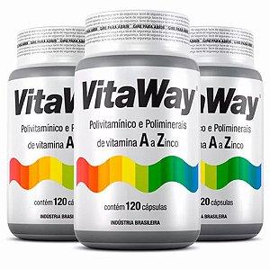 Vitaway A Z - 3x120 cápsulas - Fitoway