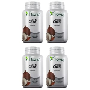 Óleo de Coco 1000mg - 4x 60 cápsulas - Fitoway