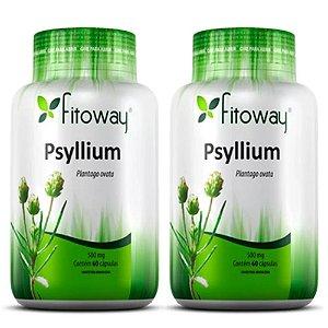 Psyllium 500mg - 2 unidades de 60 cápsulas - Fitoway