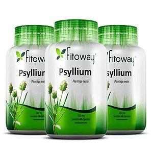 Psyllium 500mg - 3 unidades de 60 cápsulas - Fitoway