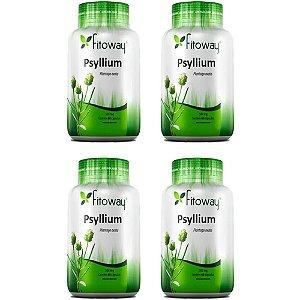Psyllium 500mg - 4 unidades de 60 cápsulas - Fitoway