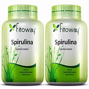 Spirulina 450mg - 2x 60 cápsulas - Fitoway