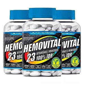 Multivitamínico Hemovital - 3x 120 Tabletes - Lauton
