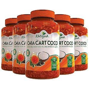 Kit ChiaCartCoco Óleo De Chia Cártamo +Coco Katigua 600 Cáps
