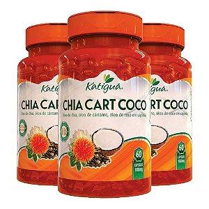 Kit ChiaCartCoco Óleo De Chia Cártamo +Coco Katigua 180 Cáps