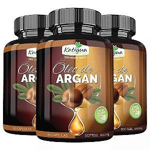 Óleo de Argan - 3 unidades de 60 cápsulas - Katigua