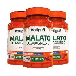 Kit Magnésio Dimalato Suplemento Vegano 180 Cápsulas Katigua