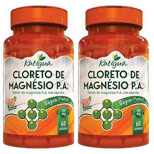 Cloreto de Magnésio P.A. - 2 unidades de 60 cápsulas - Katigua