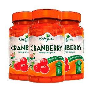 Kit Cranberry Katigua Antioxidante Suplemento 180 Cápsulas