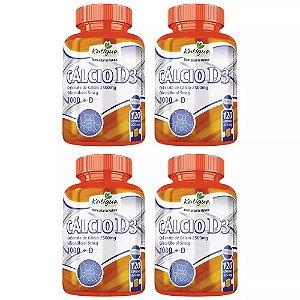 Cálcio com Vitamina D3 - 4 unidades de 120 Cápsulas - Katigua