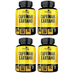 Kit Cafeína Com Óleo De Cártamo Katigua Sport 240 Cápsulas