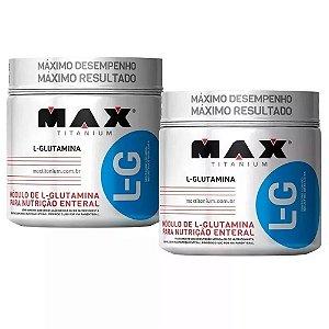 L-G Glutamina - 2x 300 gramas - Max Titanium