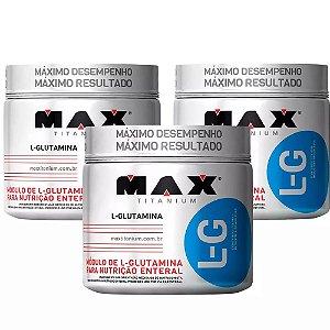 L-G Glutamina - 3x 300 gramas - Max Titanium