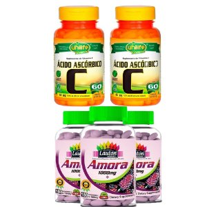 Combo 3 Amoras e 2 Vitaminas C - Lauton & Unilife