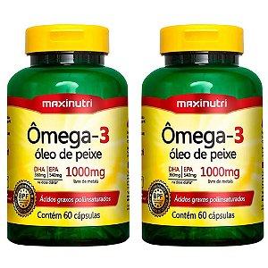 Ômega 3 - 2 unidades de 60 Cápsulas - Maxinutri