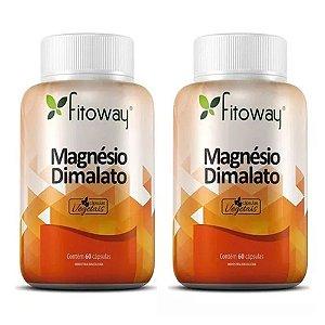 Magnésio Dimalato - 2 unidades de 60 Cápsulas - Fitoway