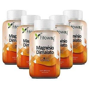 Magnésio Dimalato - 5 unidades de 60 Cápsulas - Fitoway