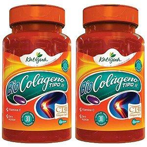 Colágeno Tipo II com Vitamina C - 2 unidades de 30 Cápsulas - Katigua