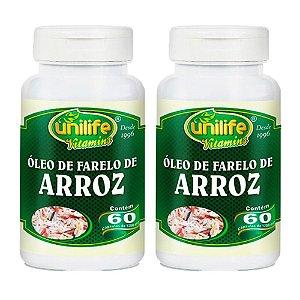 Óleo de Farelo de Arroz - 2 unidades de 60 cápsulas - Unilife