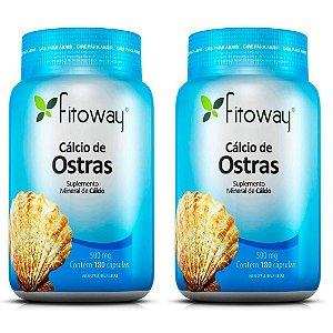 Cálcio de Ostras - 2 unidades de 180 cápsulas - Fitoway
