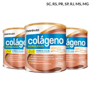 Kit 3 Colágenos Hidrolisados 2 em 1 Verisol 250g - Maxinutri