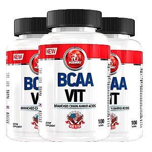 BCAA Vit USA - 3 unidades de 100 cápsulas - Midway