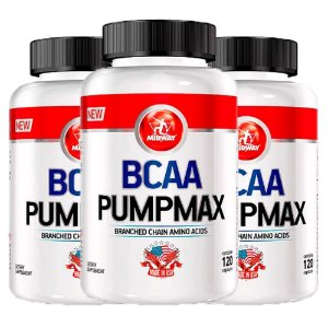 BCAA Pumpmax - 3 unidades de 120 cápsulas - Midway