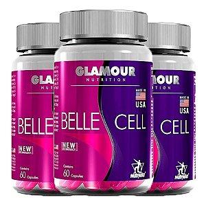 Multivitamínico Belle Cell - 3 unidades de 60 Cápsulas - Midway