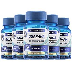 Guaraná - 5 unidades de 60 cápsulas - Catarinense