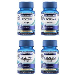 Lecitina de Soja - 4 unidades de 40 cápsulas - Catarinense