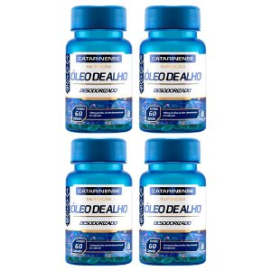 Óleo de Alho Desodorizado - 4 unidades de 60 cápsulas - Catarinense