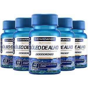 Óleo de Alho Desodorizado - 5 unidades de 60 cápsulas - Catarinense