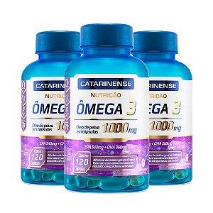Ômega 3 - 3 unidades de 120 cápsulas - Catarinense