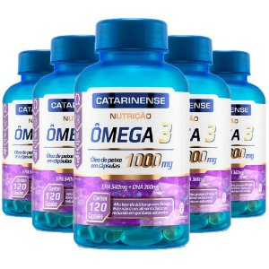 Ômega 3 - 5 unidades de 120 cápsulas - Catarinense