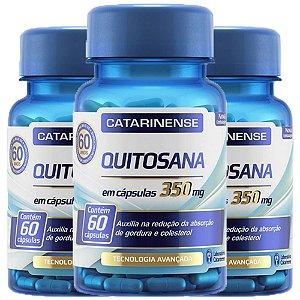 Quitosana - 3 unidades de 60 cápsulas - Catarinense