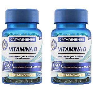 Vitamina D - 2 unidades de 60 cápsulas - Catarinense