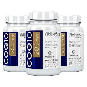Coenzima Q10 200mg - 3 unidades de 60 cápsulas - Atlhetica